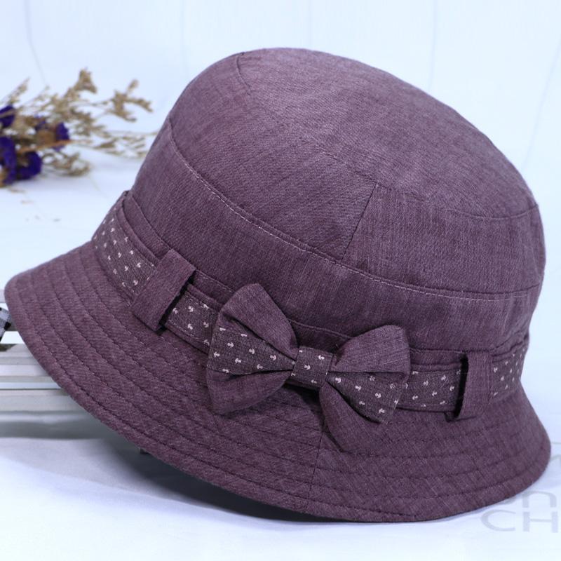 中老年春秋天帽子女奶奶盆帽老人秋帽妈妈礼帽软布帽老年人渔夫帽