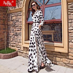 2018女装春装新款夏装欧洲站欧货潮到及脚踝超长款裙子连衣裙长裙