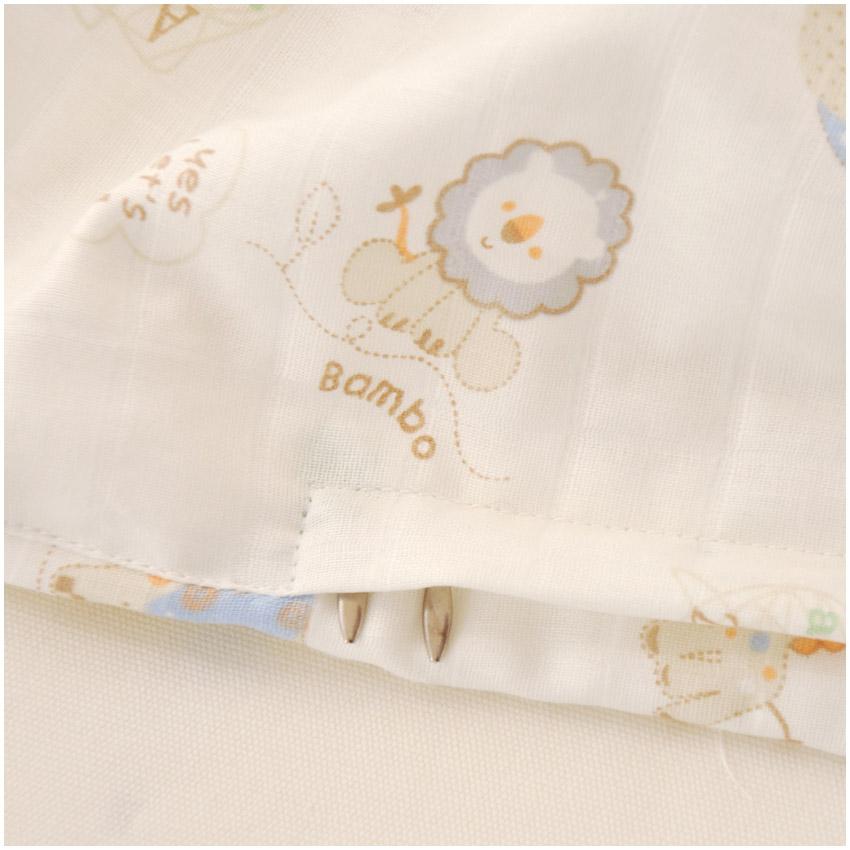 然贝贝婴儿宝宝纯棉A类双层纱布被套 幼儿园儿童全棉被罩 可定做
