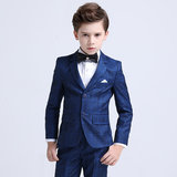 Boy suit suit 19 new Korean plaid stage host catwalk costumes flower girl dress children suit men