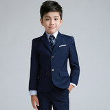 Children's suit men's three-piece set Korean version of the Spring and Autumn boy dress performance suit boy suit flower children's dress male