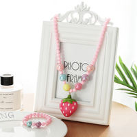Korean children's luminous necklace bracelet set female princess girl jewelry girl wild baby child accessories