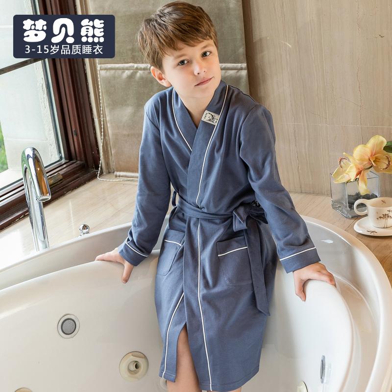 儿童浴袍男孩