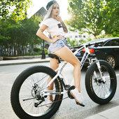 变速越野沙滩雪地山地自行车4.0大轮胎宽胎自行车成人男女式