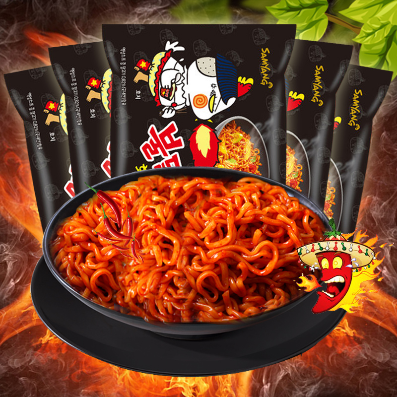韩国进口三养火鸡面干拌面140gX5袋火辣甜辣速食方便面拉面辣鸡面图片