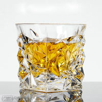 Crystal Glass Whiskey Cup Wine Glass Beer Glass White Wine Spirit Cocktail Square Household Water Cup Set