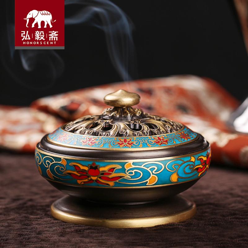 珐琅纯铜香炉