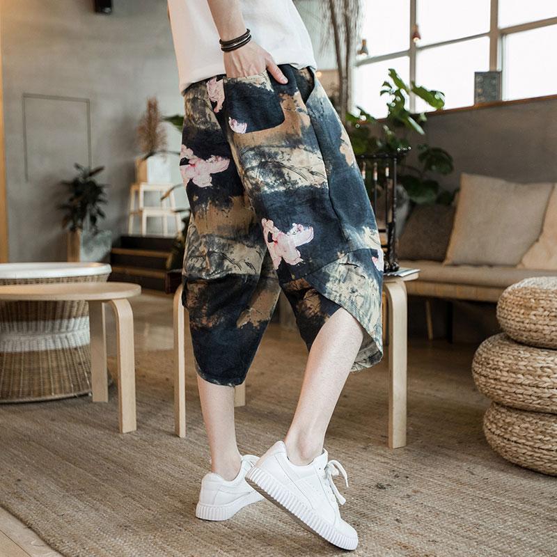 男装韩版亚麻短裤
