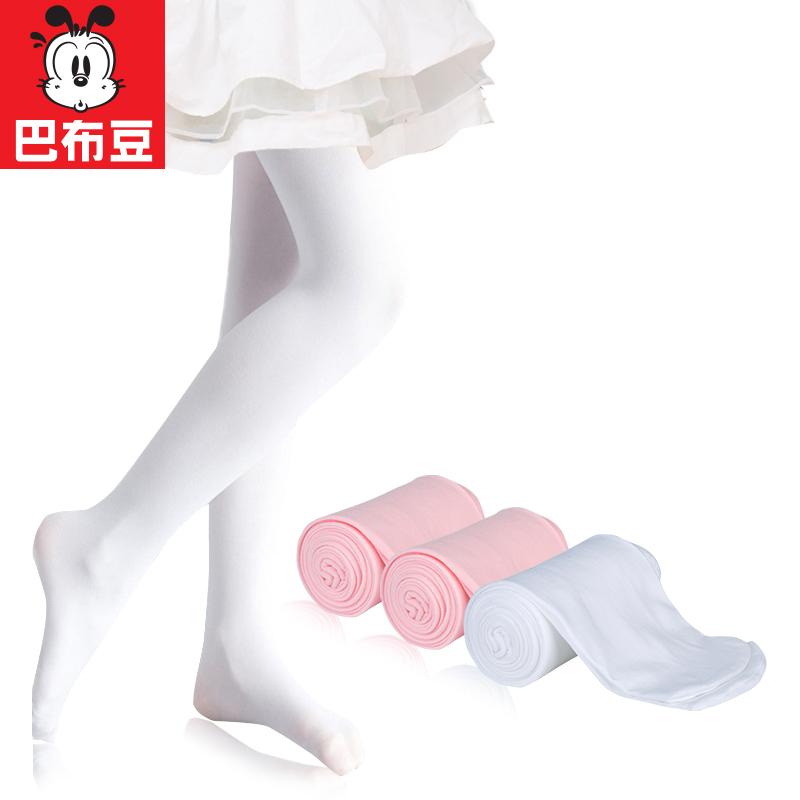 儿童连裤袜春秋薄款女童打底裤秋冬中厚白色丝袜跳舞专用舞蹈袜子