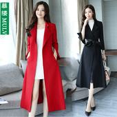 风衣女流行外套潮 修身 韩版 显瘦气质过膝中长款 新款 2019秋装 女装图片
