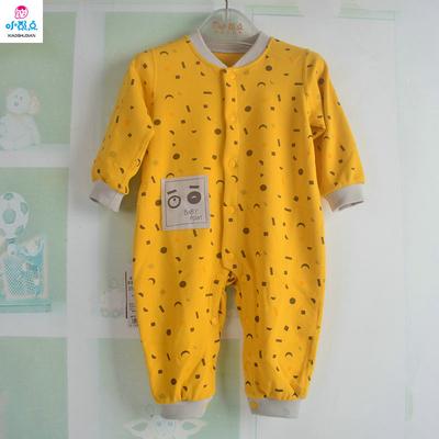 小数点热卖春秋童装男女初生儿衣服宝宝连体衣嬰兒爬服6-12个月