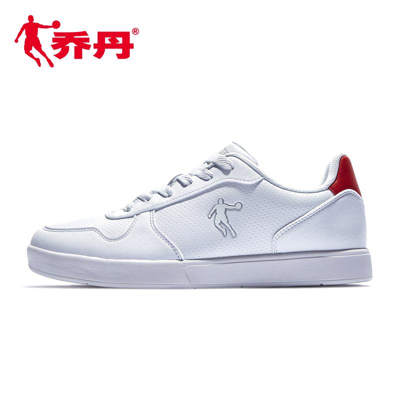 乔丹男鞋白色板鞋男休闲鞋鞋子2019新款春季滑板鞋革面运动鞋白鞋