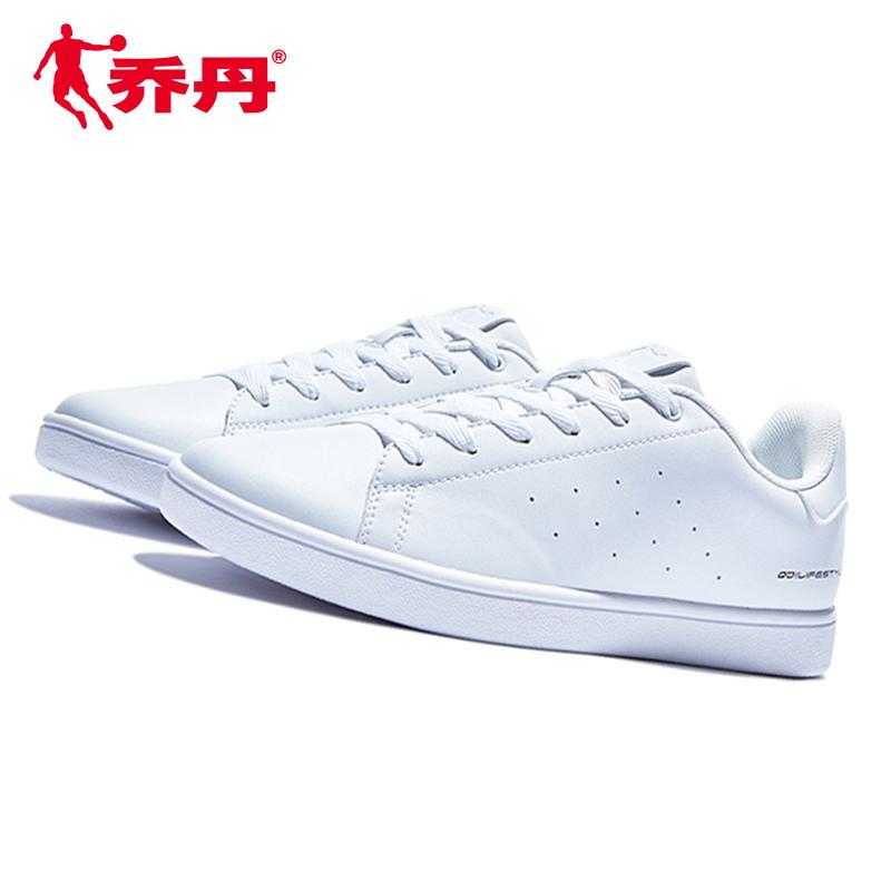 乔丹女鞋板鞋2019新款韩版街头运动鞋女生小白鞋时尚纯白色板鞋子
