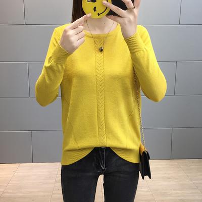 秋装2018秋季新款女毛衣短款亮丝针织打底衫长袖女士上衣百搭潮