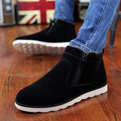 男鞋冬季加绒保暖鞋高帮板鞋男士棉鞋休闲鞋子防滑棉靴马丁雪地靴