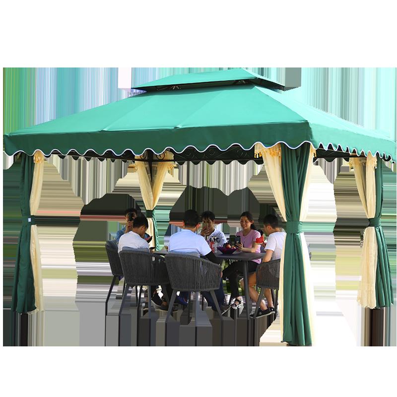 精欧户外别墅家用防雨遮阳棚加厚野营防雨帐篷广告婚庆四角伞篷房