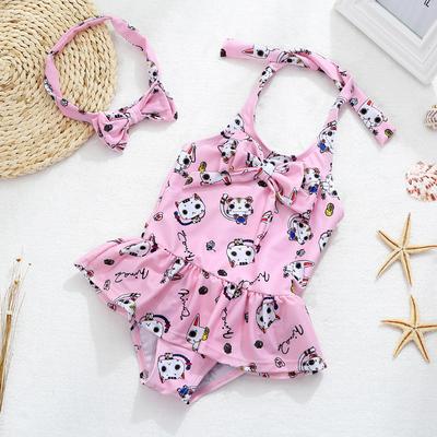 儿童泳衣女童中小童女孩连体裙式游泳衣宝宝婴幼儿公主可爱泳装