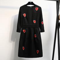加肥加大码女装2018春装新款内搭打底连衣裙小香风200斤胖mm裙子