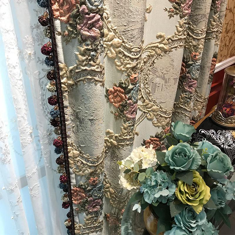 客厅浮雕窗帘
