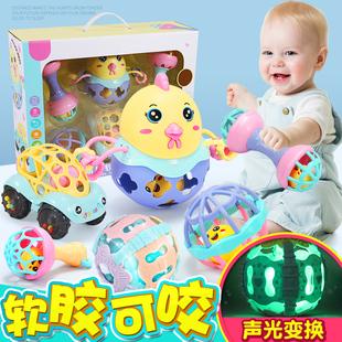 婴儿玩具0 1岁半抓握训练益智宝宝5六七8九个月手摇铃手抓6可咬12