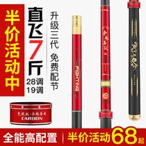 超硬轻鱼竿远投海竿钓竿抛杆3.62.42.1日本原装进口碳素海钓竿