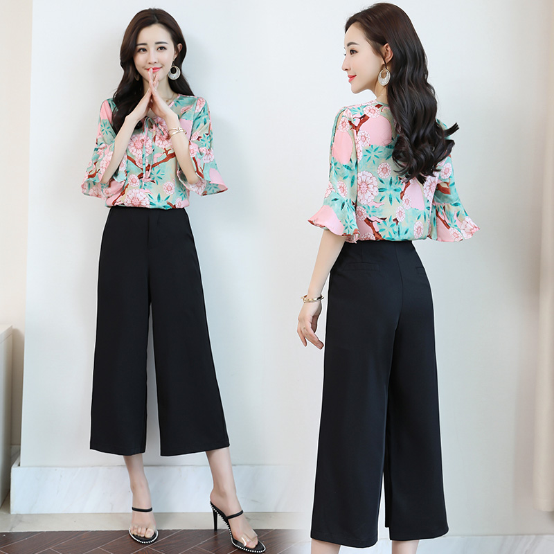 Office European goods thin section daily girls nice girls fashion seven wide leg pants