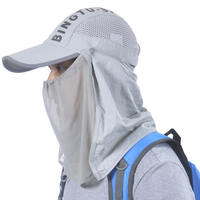 Sports Sun Hat Men and women Mountaineering Sun Hat Quick-drying Mosquito Cap Fishing Riding Face Sunscreen Mask