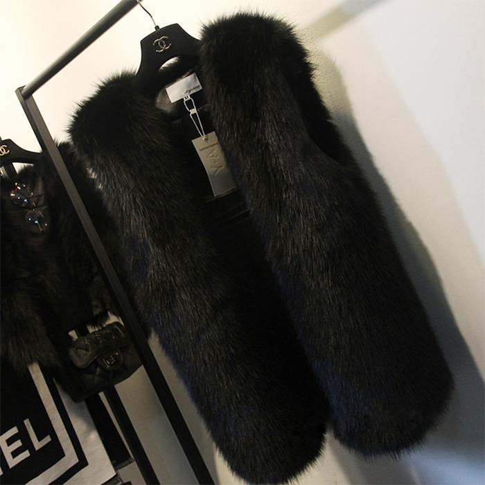 Haining 100% rabbit fur coat new 2017 vest in the long paragraph imitation Raccoon fur grass vest female winter long section 2017 new fashion Korean version of the one hundred