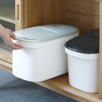 加厚装米桶10kg家用20斤装储米箱防虫防潮密封面粉桶米面收纳箱