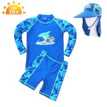 Summer children's boy swimsuit, long sleeves, swimsuit, hot springs, swimsuits, surfing suits.