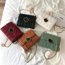 Ins Super-hot Bag Girl 2019 New Korean Version Small Square Bag Fashion Link Chain Single Shoulder Slant Bag