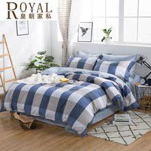 四件套全棉纯棉1.8m米床上用品4床单被套简约双人夏季欧式水洗棉