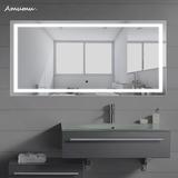 简约浴室镜无框壁挂智能高清led灯镜卫生间镜子洗漱化妆镜除雾