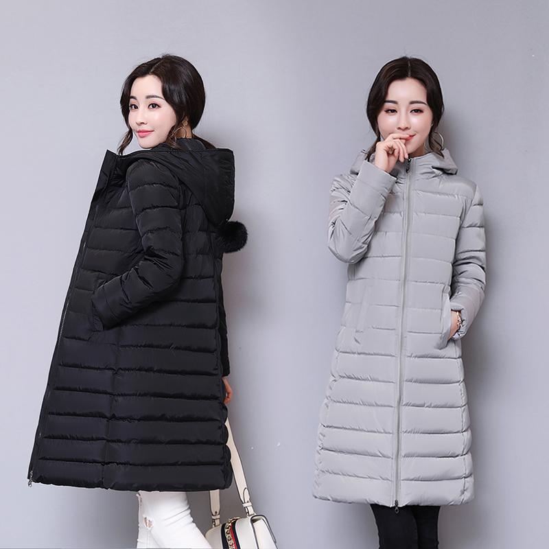 冬季时尚棉衣中长款