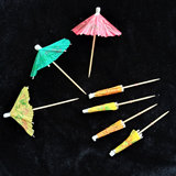 Disposable fruit sign toothpick small umbrella flower paper umbrella fruit fork umbrella sign fruit plate cake cocktail decoration sign small umbrella