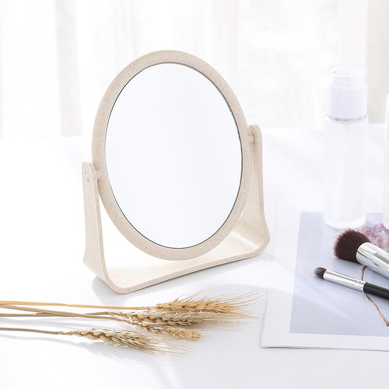 双面旋转梳妆镜台式小镜子 简约折叠化妆便携公主镜化妆镜