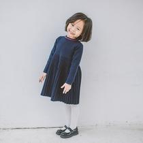 童装裙子秋装新款女童民族风灯笼袖蕾丝气质连衣裙儿童公主裙