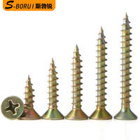 Self-tapping screw iron galvanized cross countersunk head screw plus hard wood screw flat head self-mapping screw M3M3.5M4M5