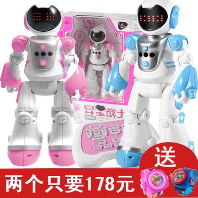 遥控智能机器人跳舞编程机械战警充电动早教儿童男孩玩具女孩礼物评测