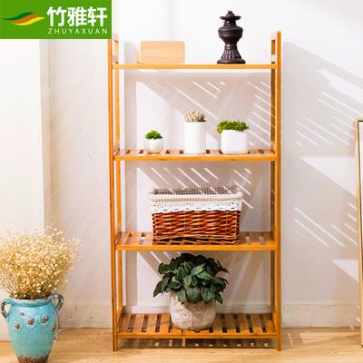 楠竹置物架落地卫生间收纳架简易架浴室实木架创意储物架层架特价