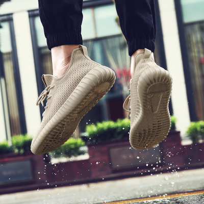 男鞋夏季透气网面网鞋男士休闲鞋夏天鞋子男网布运动鞋椰子跑步鞋