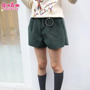 女童短裤秋冬外穿2017新款韩版时尚小女孩中大童打底裤子儿童冬装