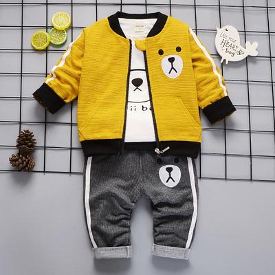 婴儿童装0小童春秋装1岁男宝宝秋季套装2岁男童三件套3休闲潮衣服
