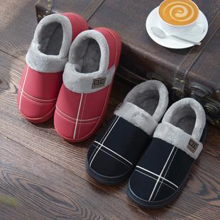 冬季毛毛情侣棉拖鞋男女包跟防水室内家居保暖防滑厚底韩版居家用