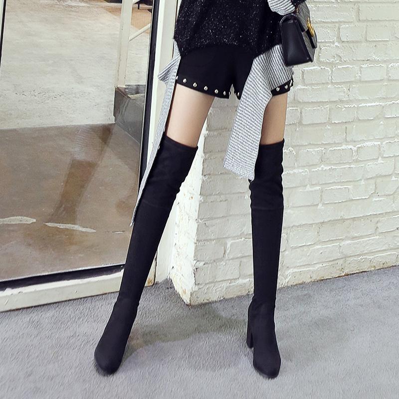 冬季高跟粗跟女靴