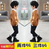 冬季上衣 男童卫衣10中大童12 15岁男加绒加厚儿童套头保暖打底衫图片