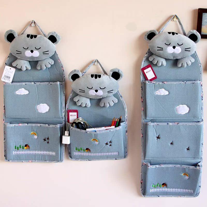 杂物纺收纳箱布艺整理箱衣柜钥匙储物箱大号杂物杂物收纳盒打包袋