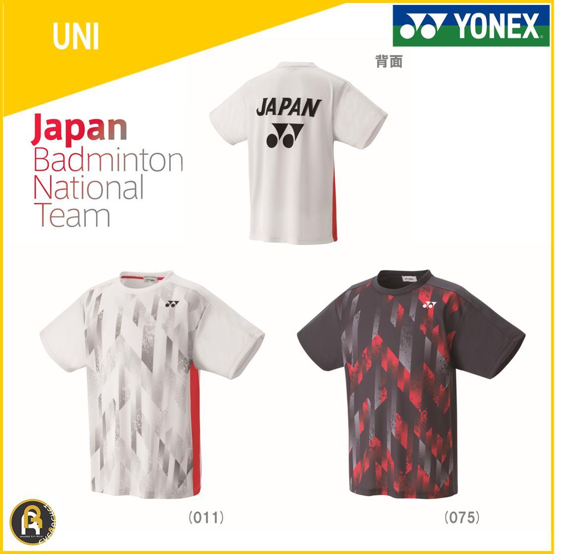 YONEX尤尼克斯日本国家队JP版16351球迷款羽毛球短袖运动T恤队服