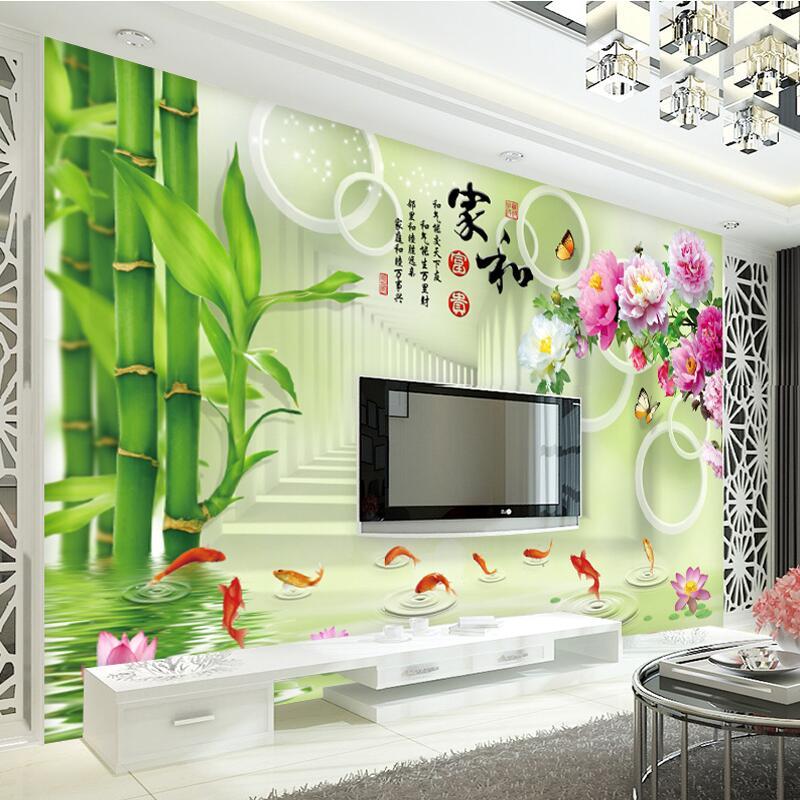 客厅装饰8d电视背景墙壁纸现代简约3d墙纸5d立体凹凸壁画影视墙布