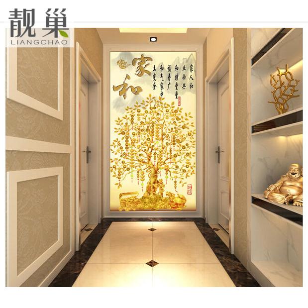 高清中式发财树